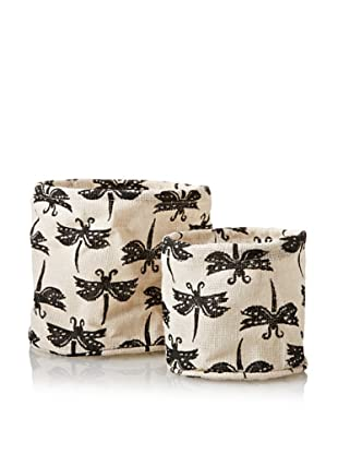 rockflowerpaper Set of 2 Jute Potted Plant Covers (Grey)