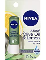 NIVEA Kiss of Olive and Lemon Lip Care 0.17 Ounce (Pack of 6)