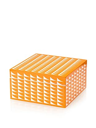Wolf Designs 1970's Collection Lacquer Jewelry Box, Small (Fab Orange)