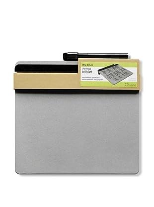 Three by Three Set of 2 Desktop Tablet Dry Erase (Silver)