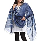 Indigo Cotton Silk Dupatta