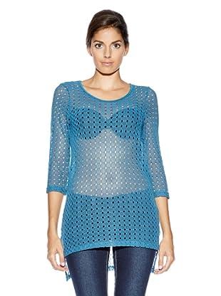 Vero Moda Jersey Troquelados (Azul)