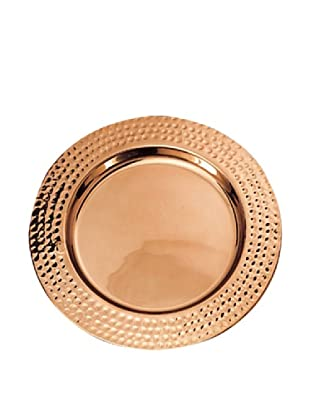 Old Dutch International Décor Copper Hammered Rim Charger Plate