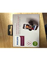 Philips Car Mount for Mobile Devices 2.3 to 3.5 Wide - Retail Packaging - Black
