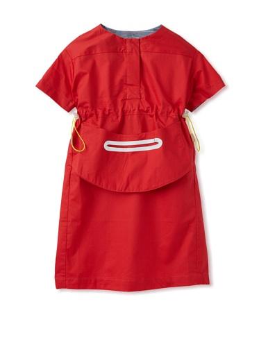 kicokids Girl's Work Wear Shift Dress (Ladybug)