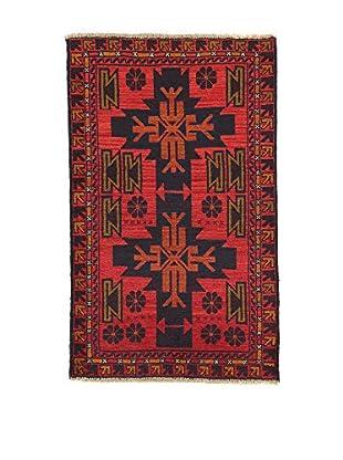 L'Eden del Tappeto Teppich Beluchistan rot/schwarz 142t x t88 cm