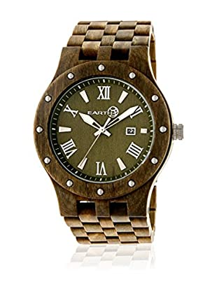 Earth Reloj con movimiento japonés Unisex Inyo Oliva 46 mm