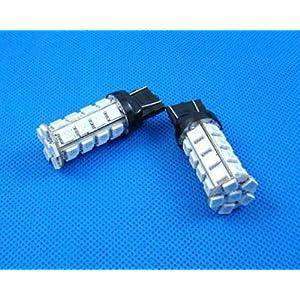【クリックで詳細表示】L151-高輝度3チップ30連 SMD LEDバルブ レッド 無極性 2個セット-611512: 車&バイク