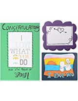 Artista Love Collection Greeting Card - Pack of 3