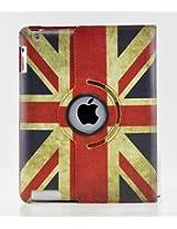 LiViTech 360 Degree PU Leather Vintage British UK Flag Style for Apple iPad 2 3 4 (Smart Cover's Sleep & Awake)