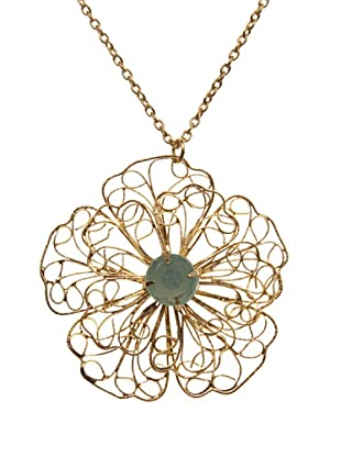 Sigris Collar Flor (Dorado Viejo)