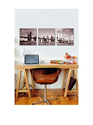 New York City Panoramic Giclée Canvas Print Triptych