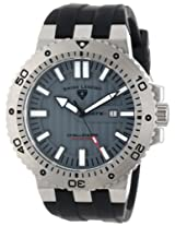 Swiss Legend Men's 10126-014 Challenger Grey Textured Dial Black Silicone Watch