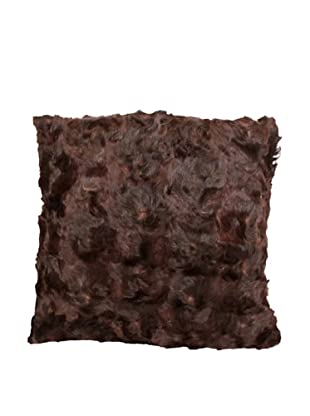Upcycled Cowhide Pillow, Brown/Black, 18
