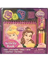 Disney Princess Activity Book Set (Storybook, Stickers, Ink Pad, Colored Pencils, And Foam Stamps)