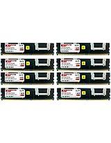 Komputerbay 32GB (8x 4GB) DDR2 PC2-5300F 667MHz CL5 ECC Fully Buffered FB-DIMM (240 PIN) 32 GB w/ Heatspreaders