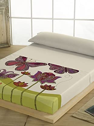Valentina Juego de Sábanas Butterfly (Beige)