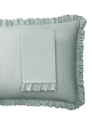 lazybones Standard Pillowcase Sets, Green Stripe