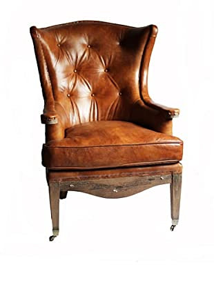 Melange Home Sterling Armchair, Whisky Brown