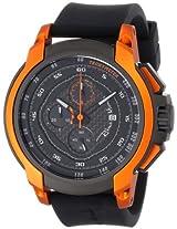 Ritmo Mundo Unisex 1001/3 Orange Quantum Sport Quartz Chronograph Carbon Fiber and Aluminum Accents Watch