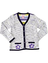 Design History Daisy Cardigan (Toddler/Kid) - Catalina Blue-6x