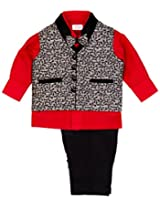 Infant Boys Occasion Wear Vest Suit With Trouser, Multi Colour (0-6 Months)