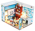 Dollhouse Miniature DIY Kit Cover Light Doraemon Nobita Dream Living Room Home for christmas gift