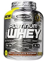 MuscleTech Platinum 100% Whey Supplement, Milk Chocolate Supreme, 5.03lbs