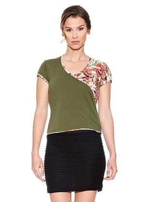 Mahal Camiseta Cuello Cruzado (Verde)