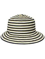 Gottex Women's Pippa Toyo Metallic Straw Accented Packable Sun Hat Rated