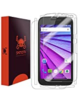 Skinomi TechSkin - Motorola Moto G Screen Protector 3rd Gen + Full Body Skin Protector w/ Lifetime Replacement / Front & Back HD Clear Film Invisible and Anti-Bubble Shield 3rd Generation - 2015