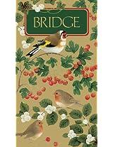 Entertaining with Caspari Bridge Score Pad, Winter birds