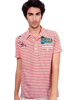 Custo Barcelona Poloshirt Dalton (Weiß/Rot)