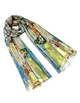 Dahlia Women's 100% Merino Wool Pashmina Scarf - Monet's