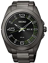 Seiko Solar Black Mens Watch Sne275