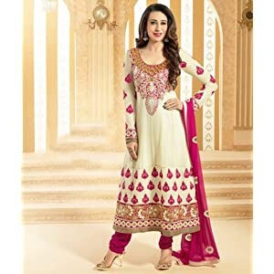 Valuze Karishma Kapoor Anarkali Suit - Off-White