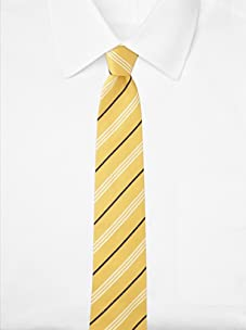Aquascutum Men's Triple Stripe Silk Tie (Yellow/White/Navy)