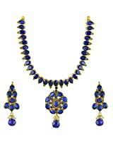 Ethnic Indian Bollywood Jewelry Set Traditional Fashion Necklace SetABNE0335BL