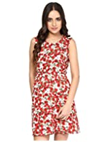 Besiva printed floral dress