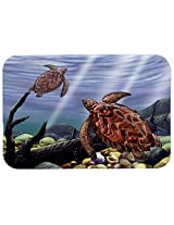 Caroline's Treasures PTW2042CMT Sea Turtles Kitchen or Bath Mat, 20 by 30 , Multicolor