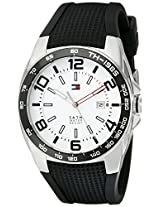 Tommy Hilfiger Men's 1790884  Sport Stainless Steel Bezel Black Silicon Strap Watch