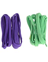 Sportsman Violet & Green Sneakers Laces (Pack of two pair)