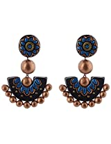 Avarna Terracotta Ear Ring With Stud In Multi-Colour