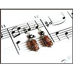 [E17M_014] Brown Barrel Earrings