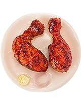 Sueno Souvenir Earthenware Tandoori Chicken Fridge Magnet (8 cm x 10 cm x 8 cm)