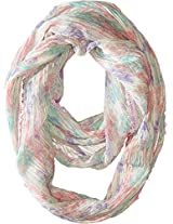 Betsey Johnson Women's Bed Of Roses Infinity Multi Scarf One Size