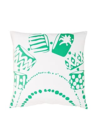 Twinkle Living Necklace Pillow Cover (White/Green)