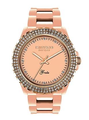 K&BROS 9552-3 / Reloj de Señora con correa de plástico rosa
