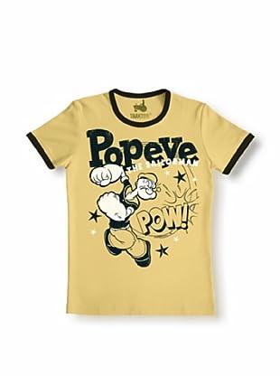 Logoshirt Camiseta Unisex POPEYE - POW Camiseta (Arena / Marrón Chocolate)