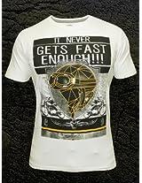 Spykar White Round Neck T Shirt